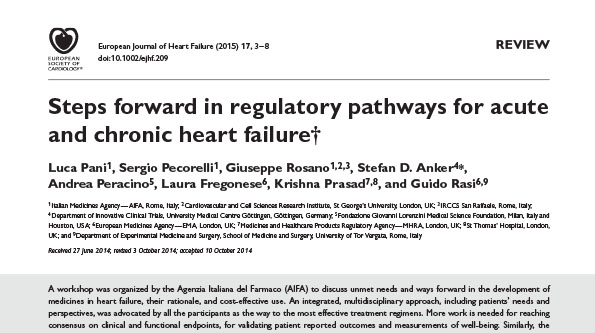 Steps forward in regulatory pathways for acute and chronic heart